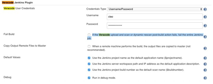 When doing a static scan using the Jenkins plugin jobs seem to fail